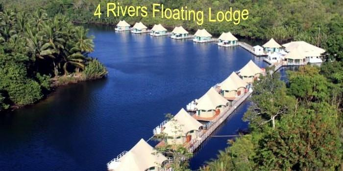 4 rivers floating lodge in tatai, koh kong, cambodia.