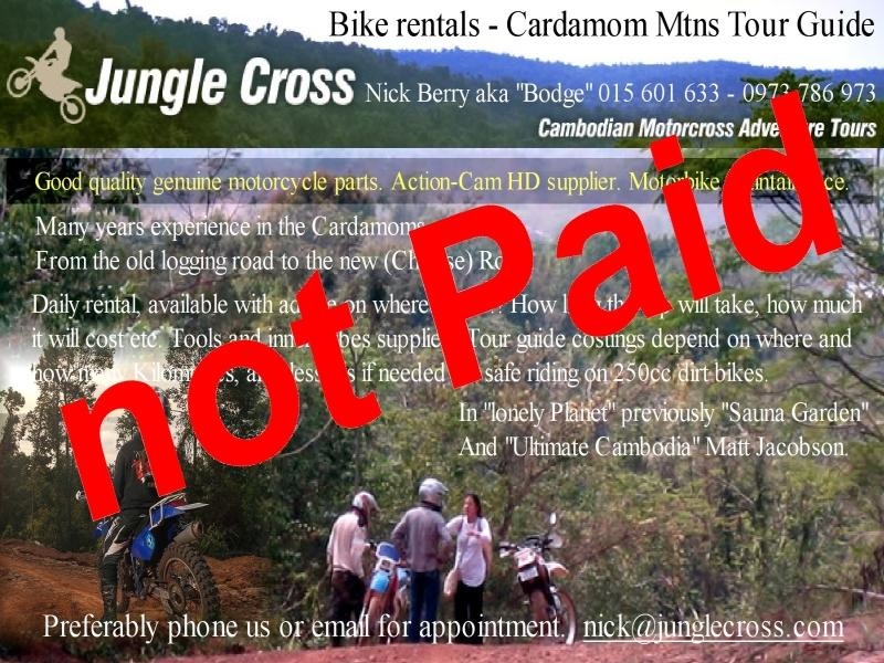 Jungle Cross Koh Kong in Cambodia is closed January 2017