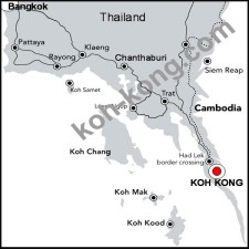 bangkok to hat lek, border thailand cambodia, road map.