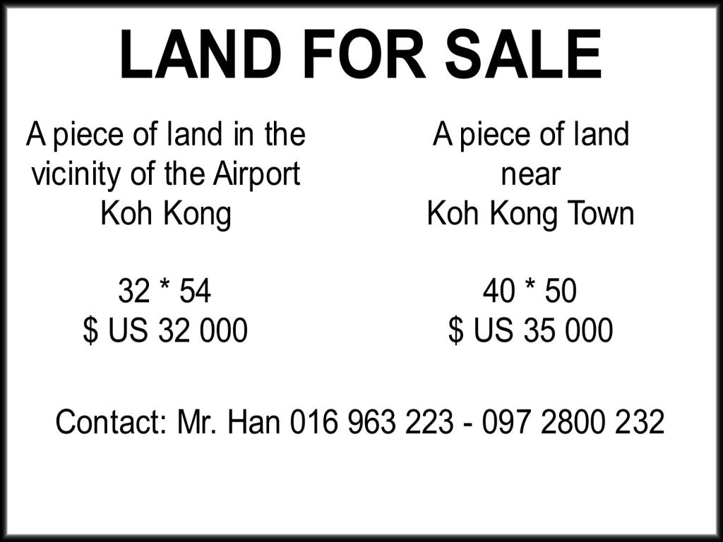 Land For Sale In Koh Kong