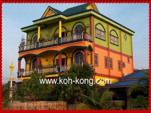 colourful house, on the way to town.