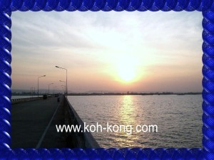 Bridge of Koh Kong to the border to Thailand.