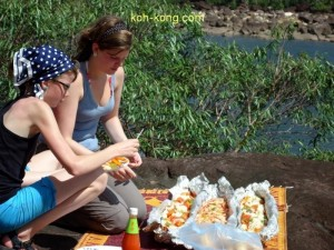 A BBQ on the waterfall in Koh Kong.