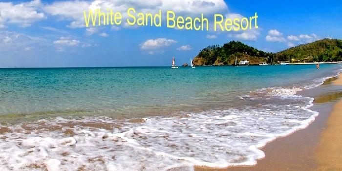 white sand beach resort on koh kong island.