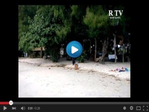 Relax on the beach. Koh Kong, Cambodia.