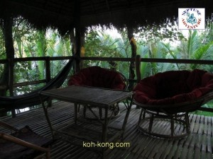 holidays in bungalow resort. cardamommountains koh kong, cambodia.
