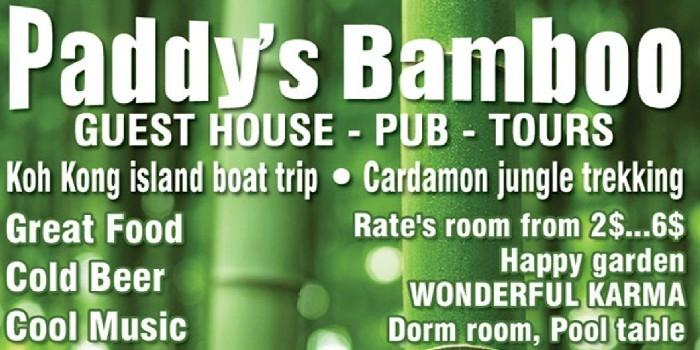 Paddy's Bamboo Guesthouse and backpacker inn, in Koh Kong