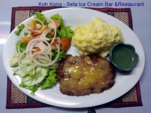 riverside koh kong, good food, schnitzel cordon bleu