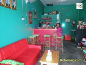 A small cozy bar in Koh Kong.