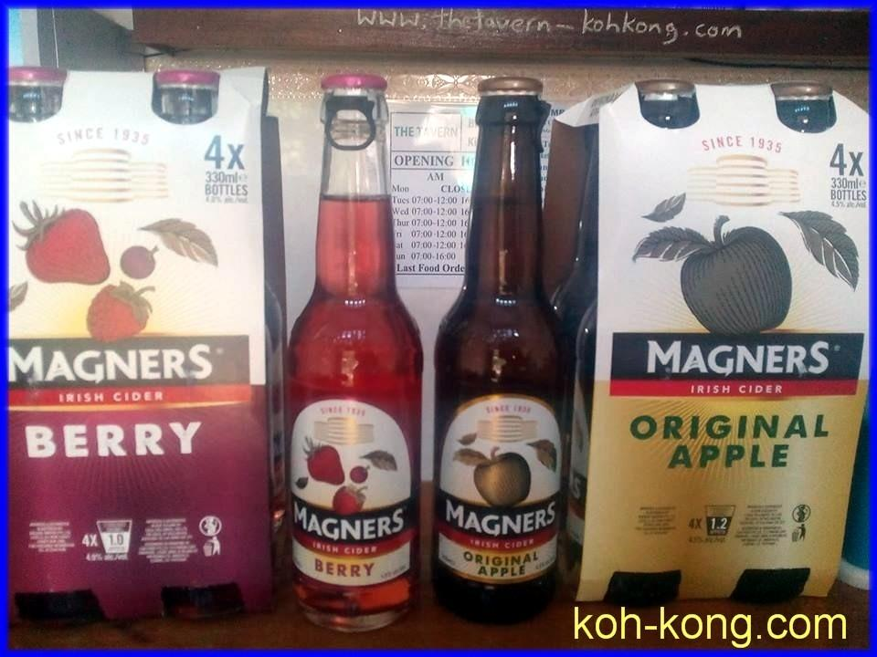 Magners Cider, Berry and Apple.